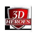 3D Héroes Logo